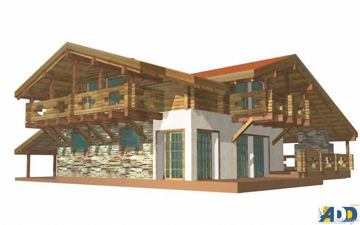 проекты домов в стиле шале.